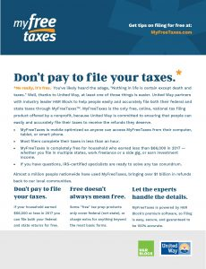 Flyer about My Free Taxes