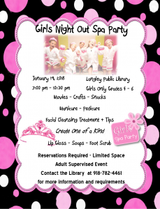 Girls Night out Spa Night Flyer