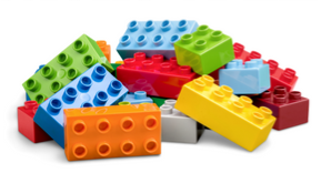 A pile of LEGO'S